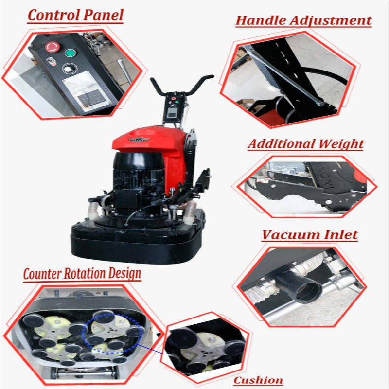 Handheld industrial floor grinders and polishers