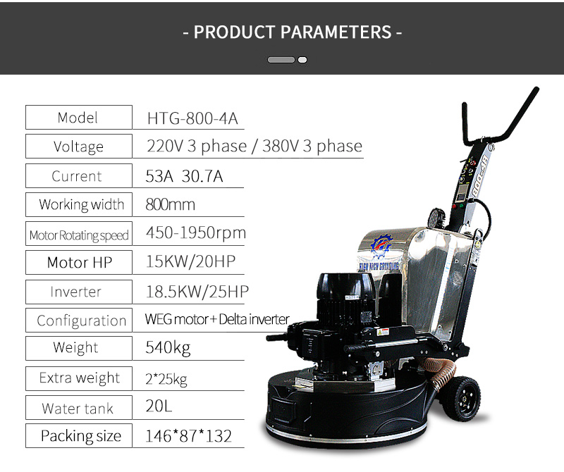 Concrete floor grinder with Delta inverter