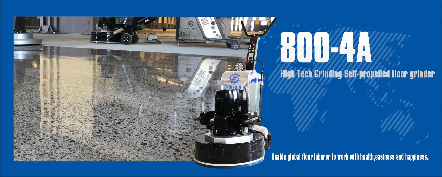 Self-propelled floor grinder machine