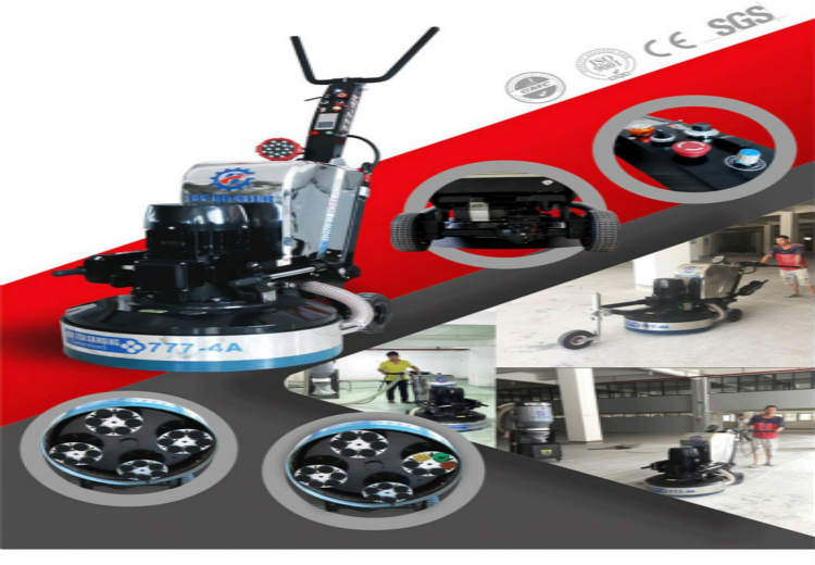 Driven floor grinding machine 800-4A, strong power and labor