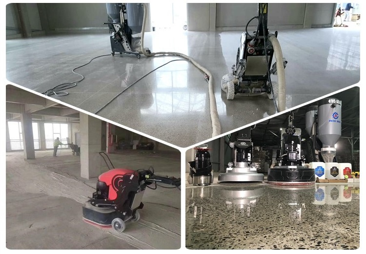 Why we choose a dry grinding method to achive a polished concrete floor?